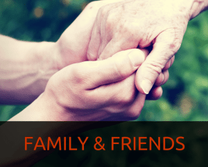 Family and friends that help depression sufferers
